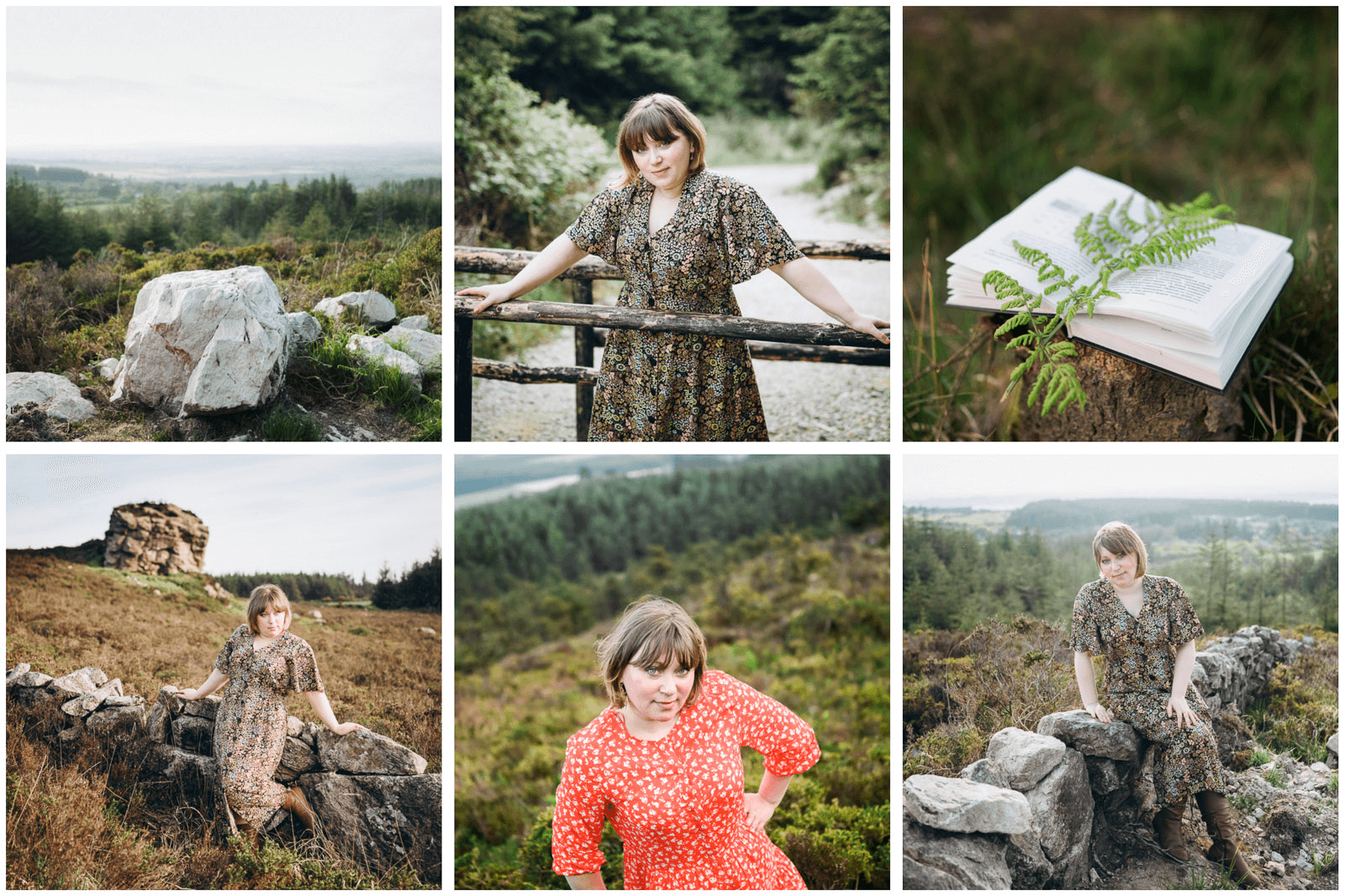 Tamara in the forest posing for Instagram photo session